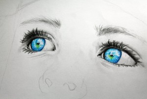 http://www.deviantart.com/art/WIP-The-eyes-of-a-child-397847346